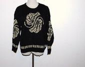 Vintage Sweater  Golden Rose
