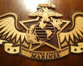 Marines Winged Wall Plaque