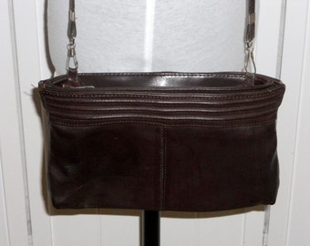 Brown Purse Clutch Handbag Vintage Bag