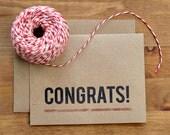 Congratulations Card - Modern Eco-Friendly Simple Congrats Graduation Card