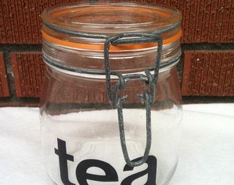 Vintage Glass Tea Canister