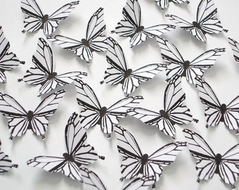 20 Wedding White Butterfly scrapbook embellishments - No997