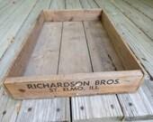 Vintage Wooden Advertising Box.
