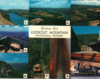Lookout Mountain Greetings from Chattanooga, Tennessee Vintage Postcard