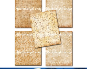 INSTANT DOWNLOAD. Papers Rust Burnt, Cards, Journaling, Scrapbooking, Tags No A05