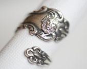 Antique Spoon Ring, Silver Lion Ring, Jewelry Gift, Silver Spoon Ring,Antique Ring,Silver Ring,Wrapped,Adjustable,Bridesmaid.