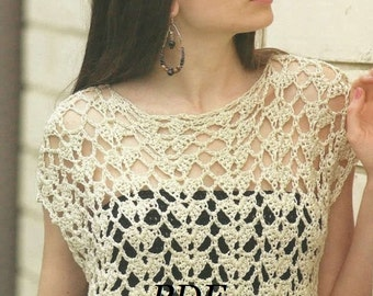 Woman Crochet Pattern in pdf, top, Cover .