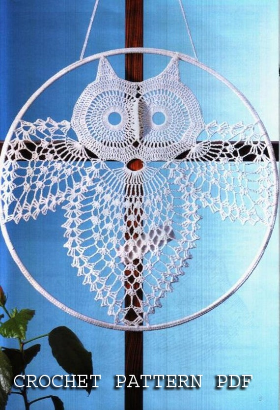 Crochet Pattern Instruction For Owl Home Decoration In