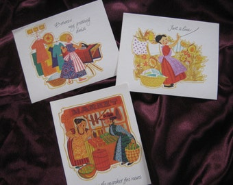 Vintage Current Busy Housewife Note Cards