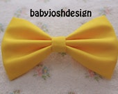 Yellow Fabric Hair bow for teens or women,girls hair bows,basic hair bows , Hair Bows