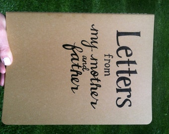 Customized, Handwritten, Extra Large Moleskine Cahier Notebook, Letters to My Child, from Mother and Father