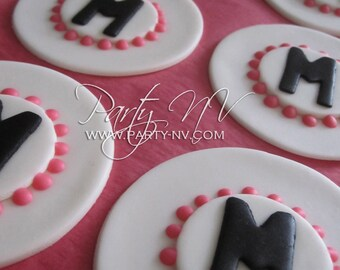 EDIBLE (Fondant  Toppers) - Monogramed