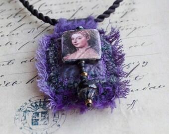 Renaissance Purple amulet Pendant