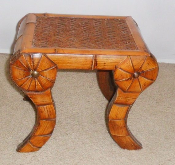 Unique Rattan Ottoman / Small Accent Table By ARTTIQUE On Etsy