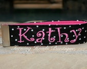 Personalized Key Fob/  Monogrammed wristlet  Key chain /  Fabric luggage tag/ Teacher gift