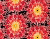 Dan Bennett Fabric - Premier Lord in Red - 44 x 13 inch panel - designer fabric