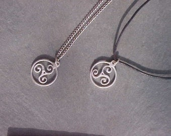 Celtic TRISKELE Pendant KAM Custom Design In Sterling Silver