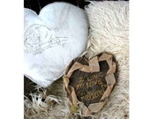 Barn Wood, Barn Board Heart,Shipping Incl. - I Love My Love 'au naturel' for rustic weddings, countrylovers, naturalists,