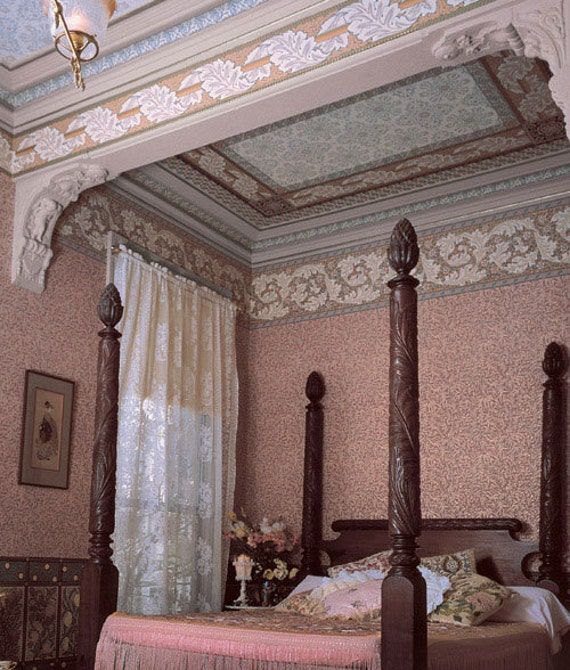 Wallpaper And Victorian Ceiling Designs Inspired By William