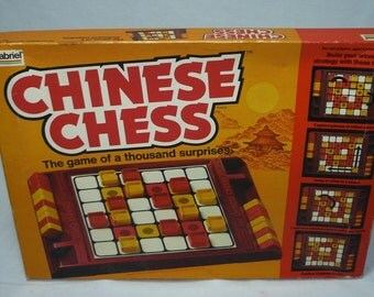 Vintage 1981 CHINESE CHESS Board Game by Gabriel Excellent and Complete Condition RARE