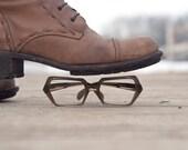 stenzel eye glasses frame italy in gray - klinker