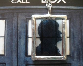 The Third Doctor Silhouette Necklace