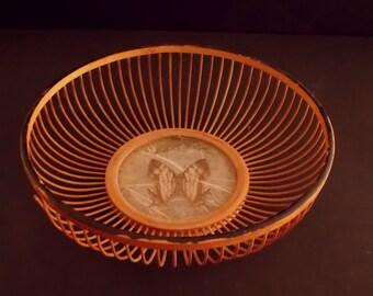 Vintage Bamboo Bread Basket