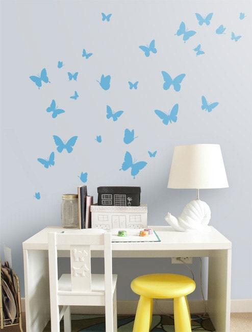 butterflies nursery decor butterfly vinyl wall sticker butterfly wall decals nursery auall385 26 00 wall
