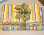 ON RESERVE FOR Dm - Baby Cotton Backed, Terry Cloth Bath Towel W/ 3 wash cloths