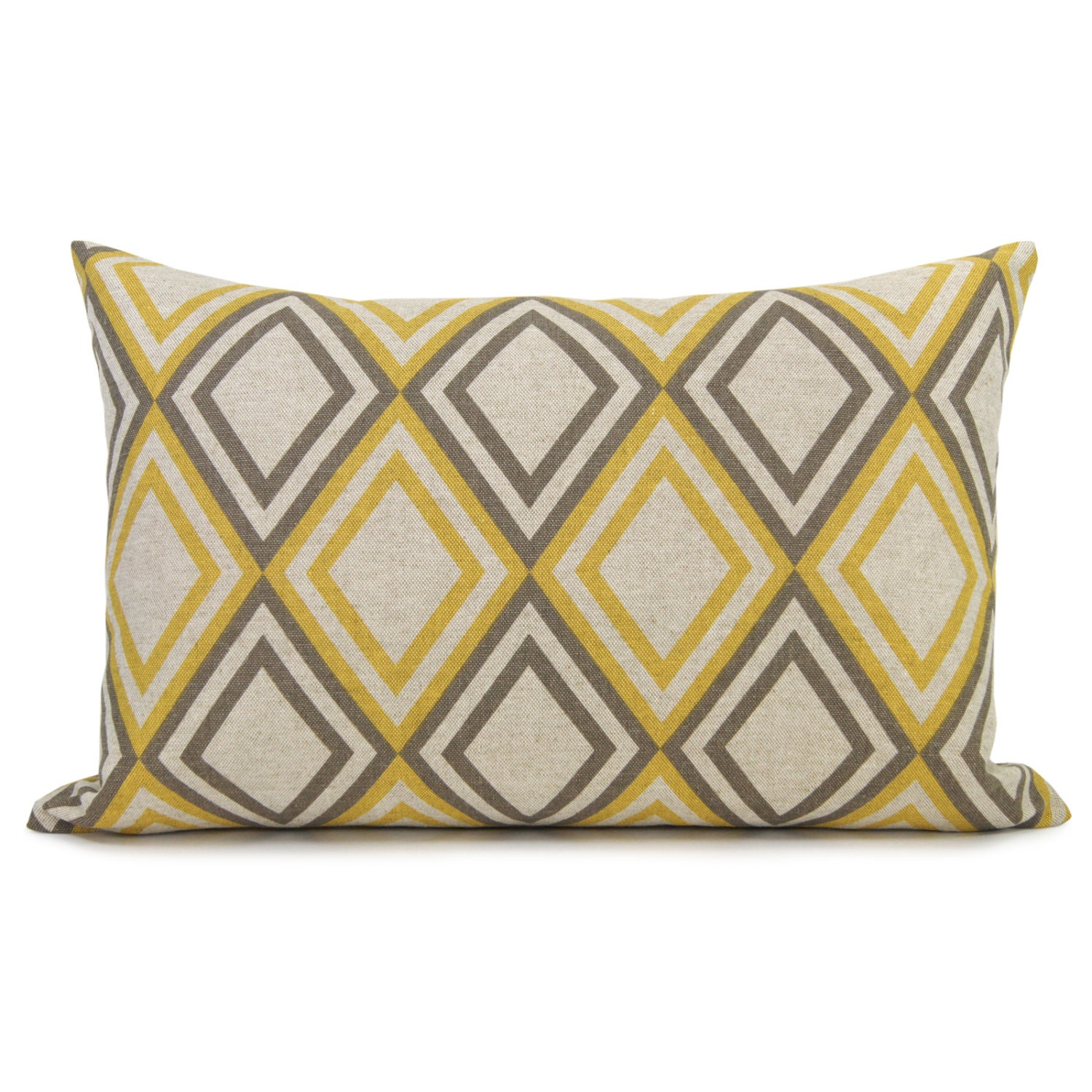 geometric decorative pillow case cushion cover in taupe gray