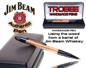 Handmade Wood Pen made from a barrel of Jim Beam Bourbon Whiskey