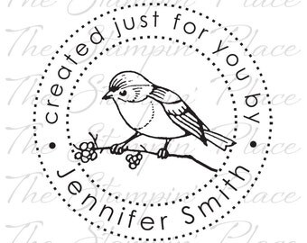 Personalized Custom Stamp - Song Bird Created just for you by - PK212