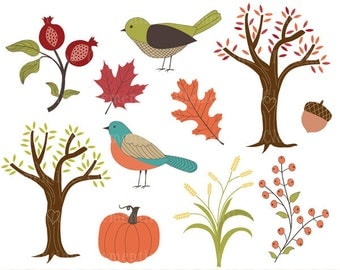 Fall clip art images,  fall clipart, autumn vector, royalty free clip art- Instant Download