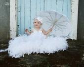 Baby Girl Flower Headband, Christening, Baptism, Blessings, Photo Prop,White Headband / Snow White Rosette Flower Headband