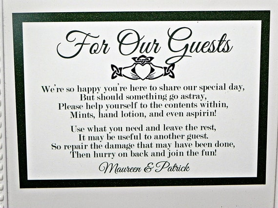 Image Result For Wedding Bathroom Basket Poem