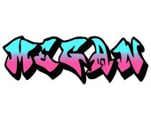 Graffiti Name Personalized Children Wall Sticker Decal