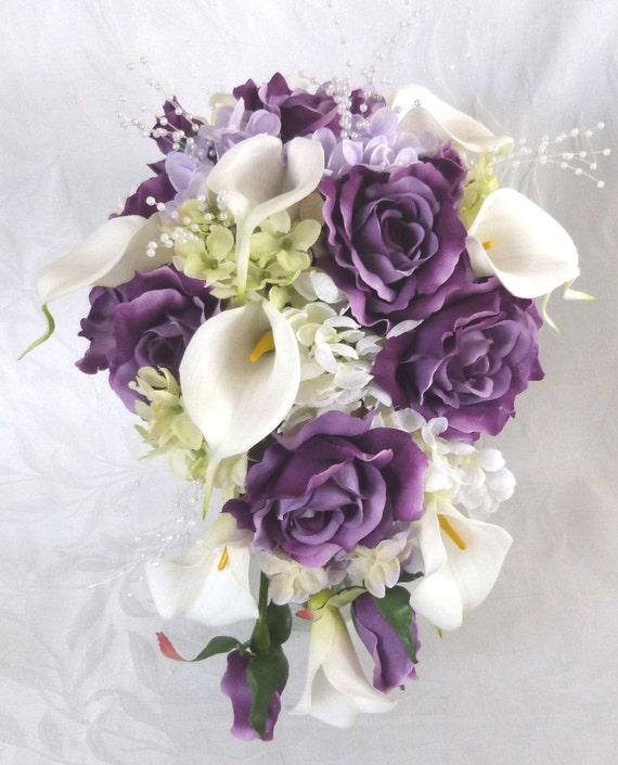 Purple Wedding Flowers: Reserved Bridal Bouquet Bridesmaid Bouquet Purple Roses Lilac