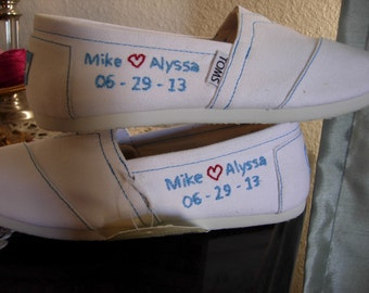 CUSTOM Hand Embroidered TOMS