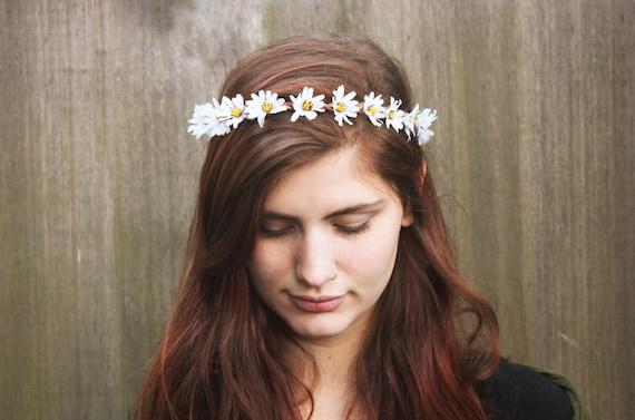 Daisy Crown, Daisy Flower Crown, Coachella, Festival Clothing, Hippie Headband, Floral Crown, Daisy Flower Headband, Daisy Crown, Boho
