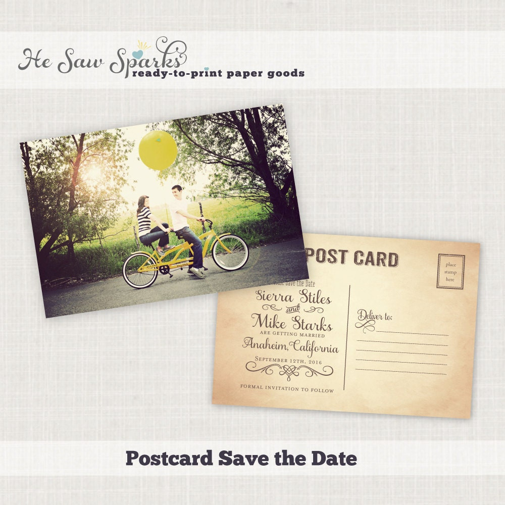Postcard save the dates in Sydney