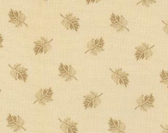 SALE 1 yard of Audra's Iris Garden Tan Leaves by Brannock and Patek for Moda