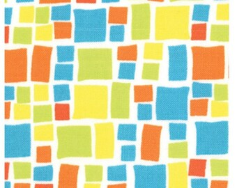 Last One Fat Quarter of Snap Pop Rain Mosaic Tiles by Sandy Gervais for Moda