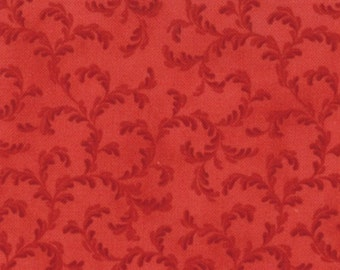 Lario Floral Scroll Red Tonal by 3 Sisters for Moda