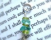 Apatite and Peridot Dangle / Bright Green, Sky Blue, Mix-n-Match Charm, Land and Sea