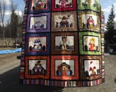 month of the year quilt ,colorful,fun, whimsical