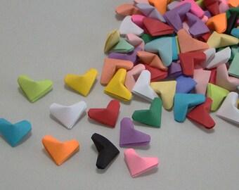 Small Origami Hearts (100): Multi Color