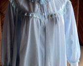 Vintage Lingerie   Vintage Bed Jacket   Vintage Blue Bed Jacket Miss Siren   Vintage Lingerie 1960s   Vintage Lingerie 1950s   Pin Up Girl