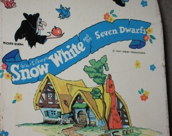 ON SALE Walt Disney's Snow White and the Seven Dwarfs Ironing Board by Wolverine Toy, circa 1970'S, Walt Disney Productions