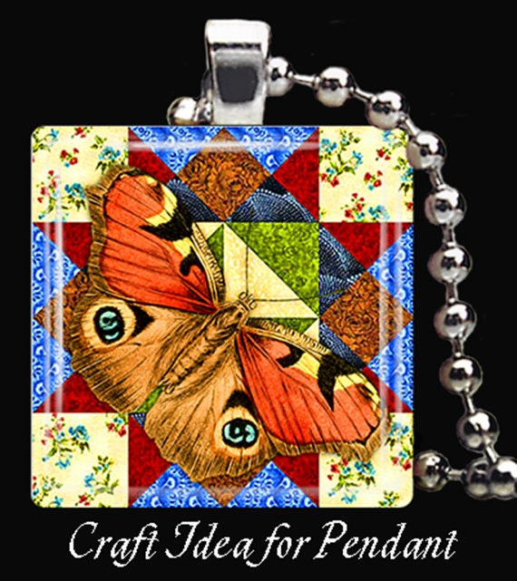 Butterfly Quilt Blocks Square Instant Download Glass Resin