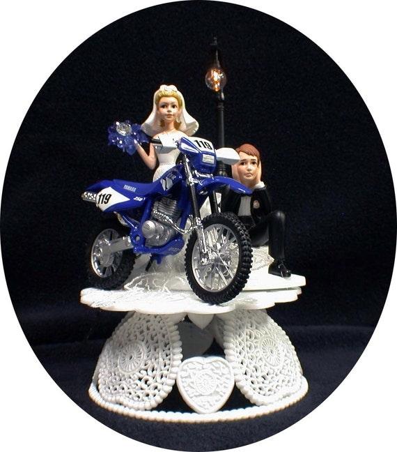Yamaha Dirt Bike Motorcycle Wedding Cake topper
